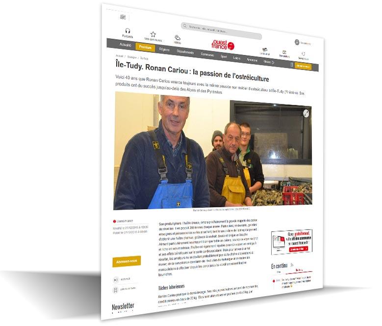 Ostréiculteur CARIOU Ronan, producteur d'huîtres et coquillages à Combrit 02